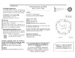 Permanences et Activités RAM