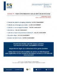 COVID-19 Point d'information sur les services du SICOVAD