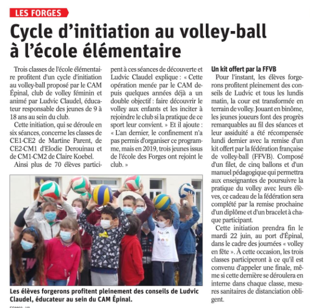 15 06 2021 ECOLE VOLLEY LES FORGES