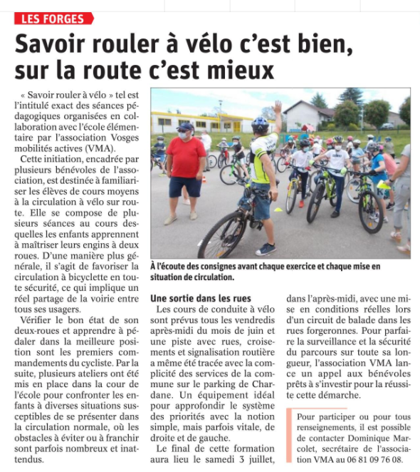 16 06 2021 ROULER A VELO VMA LES FORGES